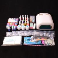 UV Gel Nagelstudio Starter Set Nagelset mit Nailart, UV Lampe und UV Gel ideales Starterset