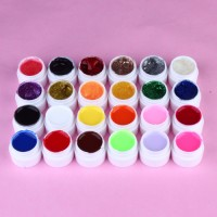UV Gel Set Farbgel Glitter