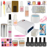 Nail Art Set Nagelstudio UV Gel UV Lampe weiss 67 tlg.