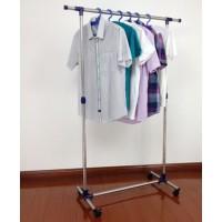 Kleiderständer Wäscheständer auf Rollen Edelstahl ausziehbar
