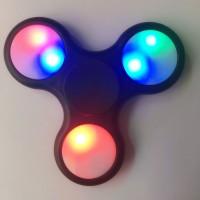 LED Finger Spinner leuchtende 3 Modus schwarz Finger Fidget Spielzeug