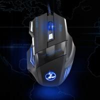 5 DPI level Gaming Mouse Gaming Maus mit 7 Farben LED-Leuchten Geräuschlosen Tasten für Windows und Mac