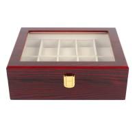 Uhrenschatulle Uhrenkoffer Uhrenbox f.10Uhr mit Sichtfenster