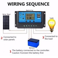 30A Solarladeregler Solar Panel Laderegler Laderegler Intelligenz USB Teil, LCD-Anzeige 12V-24V mit USB mit Bedienungsanleitung auf Englisch