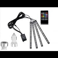 LED Streifen Auto 4-teiliges Innenraumbeleuchtung