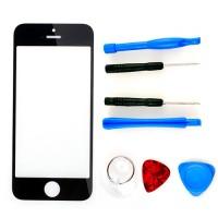 iPhone 5 Display Glas + Werkzeug Set Ersatzglas schwarz