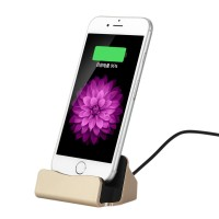 iPhone 5/6 Dockingstation Ladestation Dock Apple Ständer Gold iPod touch 5