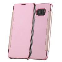Samsung Galaxy S7 Edge Flip Cover Case TPU Silikon Hülle Rosegold