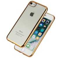Schutzhülle Crystal Clear Case für iPhone 7 Cover Bumper Anti-Scratch Plating TPU Silikon Handyhülle