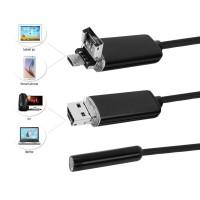 Usb Endoskop 8mm, 10 Meter Kabel Wasserdicht Boreskop Inspektion Kamera Mit 6 Leds, Usb - Adapter, für Android / Windows 2000 / XP / Vista / 7