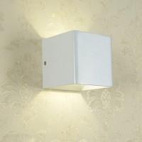 Wandleuchte Flurlampe 5W mit Aluminum Würfel Gehäuse, warmweiß