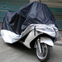 Motorradgarage Motorradabdeckung Motorrad Abdeckplane Wasserdicht Staubdicht XXXL 265x105x125cm (LxBxH)
