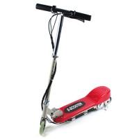 Elektroroller Elektro Scooter, Licht 14km/Std Geschwindigkeit, rot