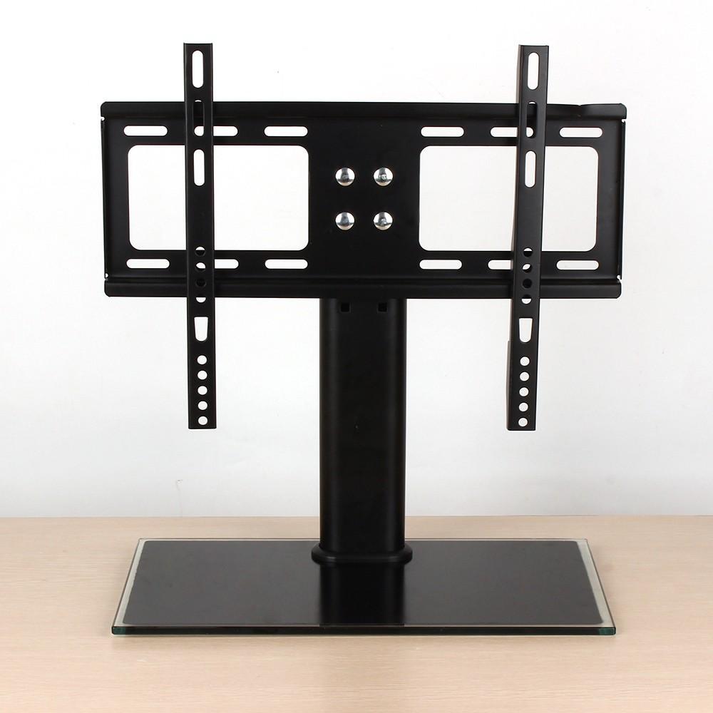 tv st nder h henverstellbar tv staender fernsehtisch standfu aus eisen universal halterung f r. Black Bedroom Furniture Sets. Home Design Ideas