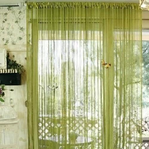 gardinen schweiz fadenvorhang vorhang fadenstore gr n. Black Bedroom Furniture Sets. Home Design Ideas