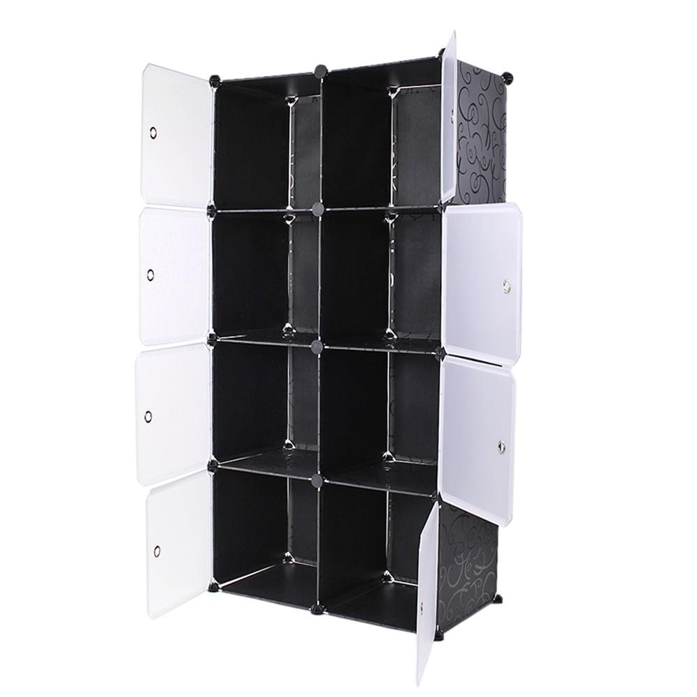 steckregal kaufen schrank kunststoff kleiderschrank 35cmx35cmx35cm 8 boxen schwarz. Black Bedroom Furniture Sets. Home Design Ideas