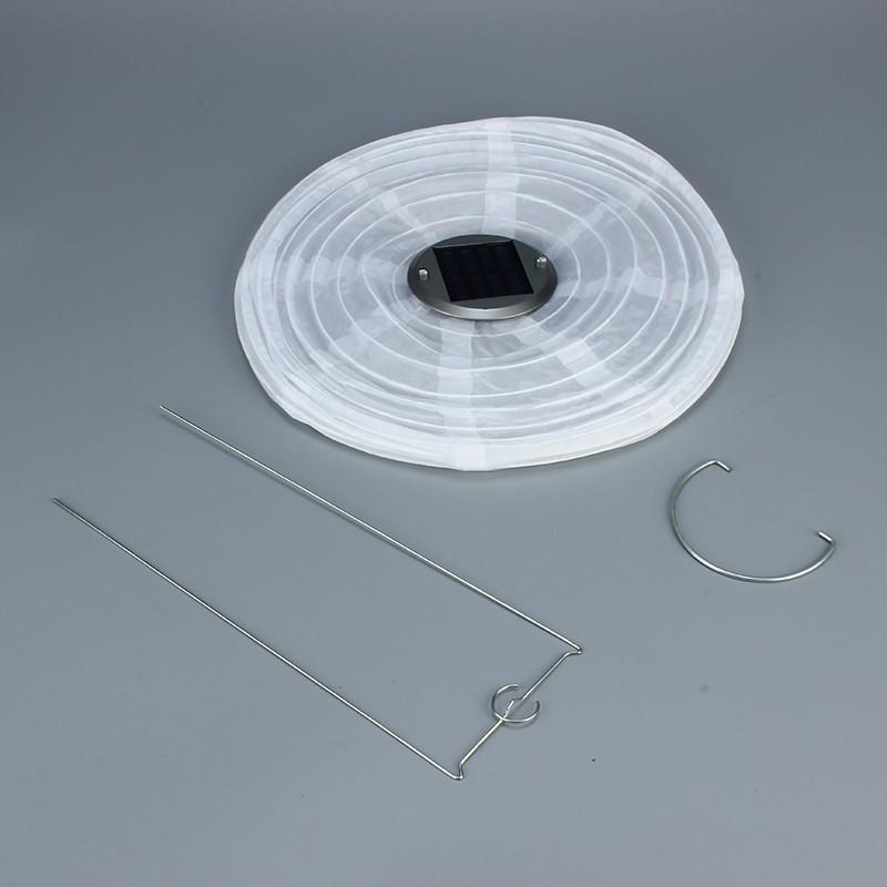 led lampion solar latern nylon wasserfest weiss. Black Bedroom Furniture Sets. Home Design Ideas