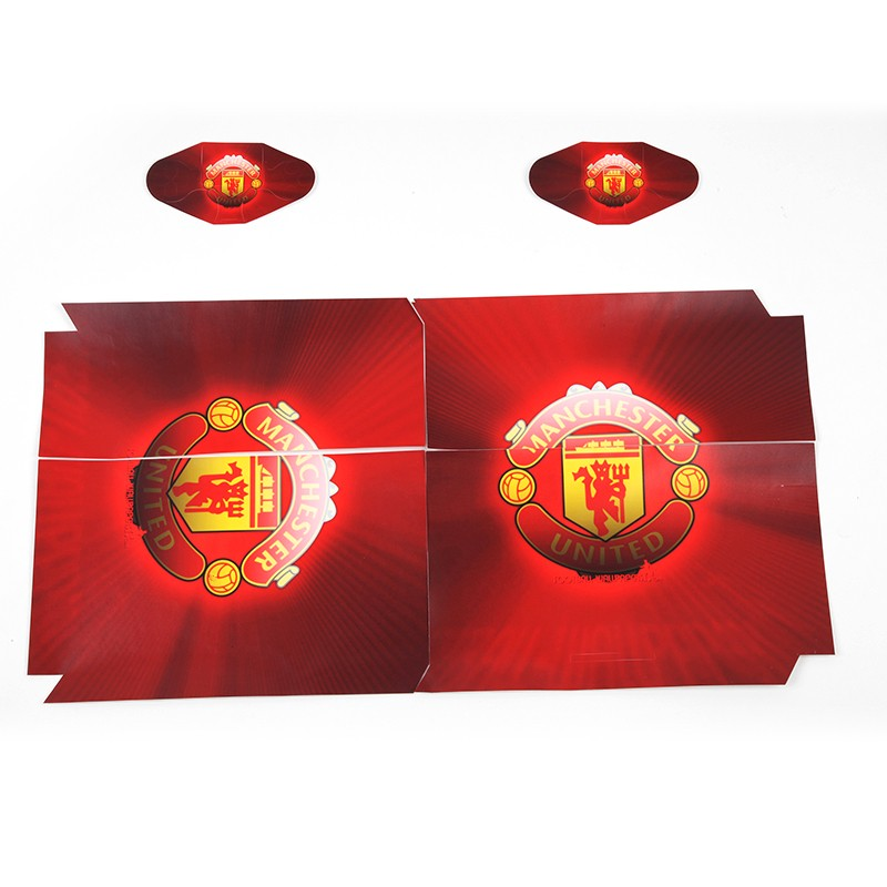 ps4 aufkleber kaufen manchester united schutzfolie rot. Black Bedroom Furniture Sets. Home Design Ideas