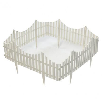 18 pcs kunststoff gartenzaun zaun 11m rasenkanten palisade wei. Black Bedroom Furniture Sets. Home Design Ideas