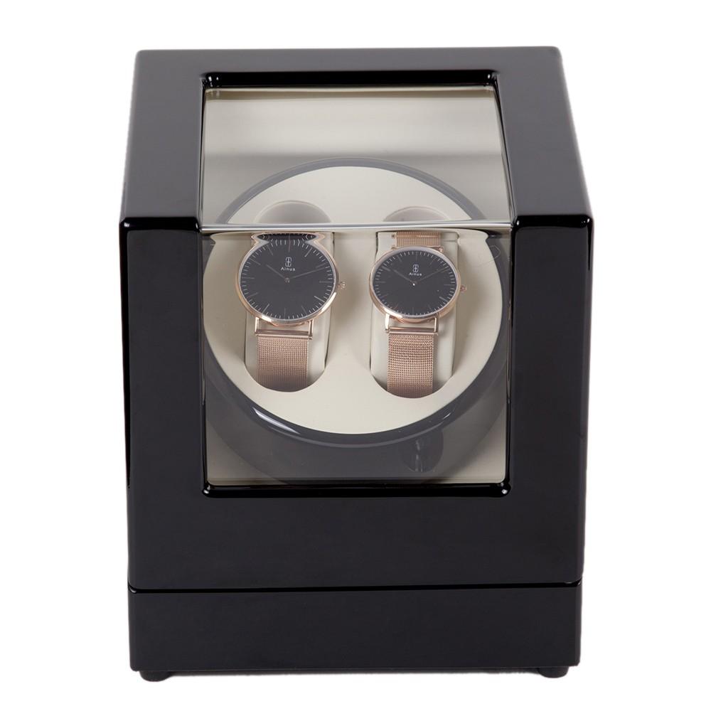 uhrenbeweger uhrendreher uhrenbox f r zwei automatikuhren. Black Bedroom Furniture Sets. Home Design Ideas