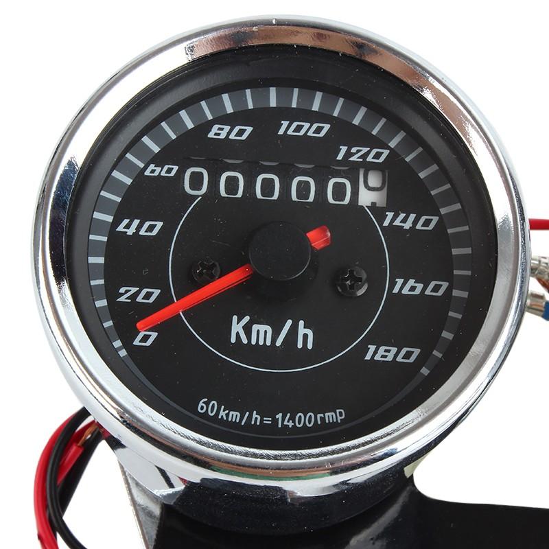 tacho motorrad universal tachometer speedometer 12v silber. Black Bedroom Furniture Sets. Home Design Ideas