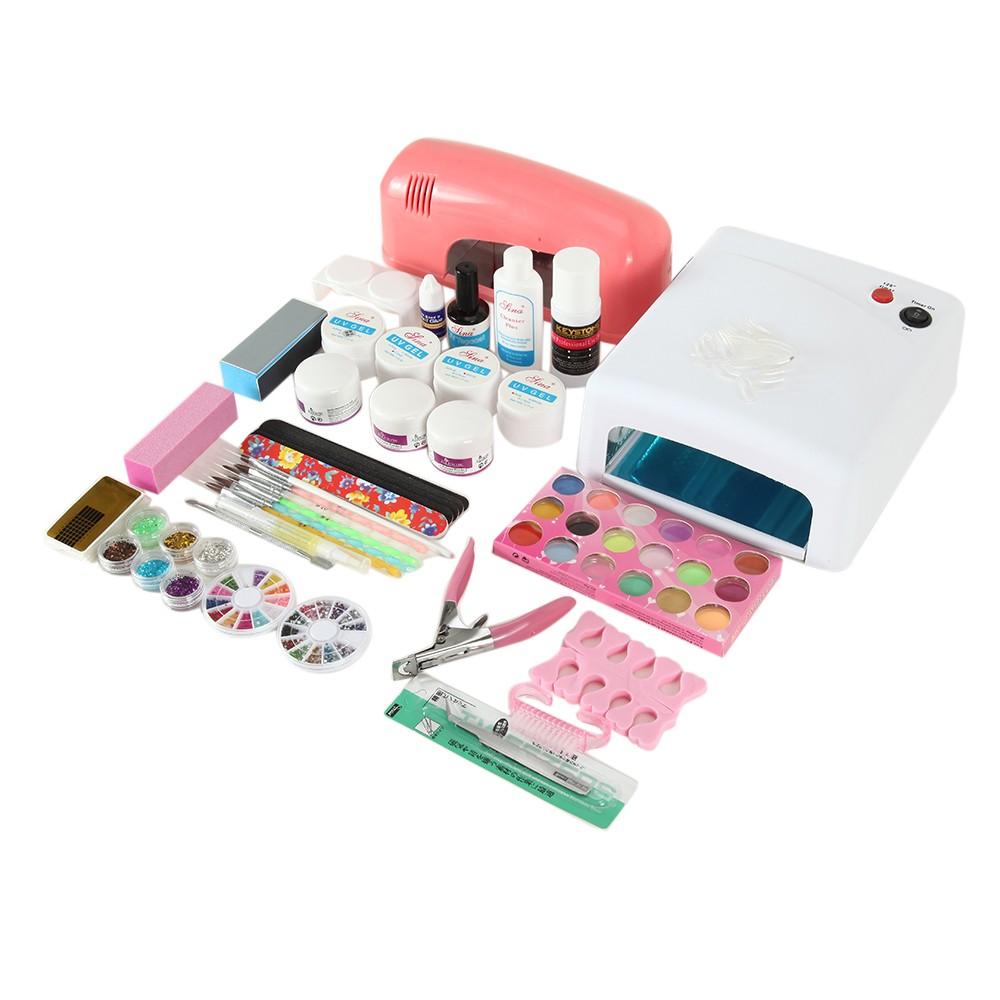 9w uv gel lampe nagelstudio uv gel set kaufen nail art kits trockner nagel kunst acryl puder. Black Bedroom Furniture Sets. Home Design Ideas