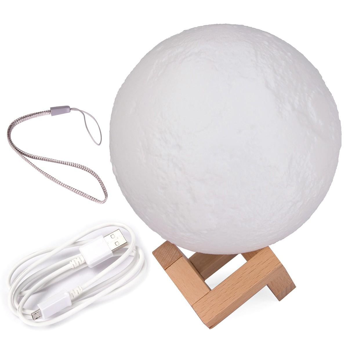 15cm Mond Lampe Nachtlampe 3D Mond Lampe Mondlicht Nachtlicht Lampe   365buy.ch