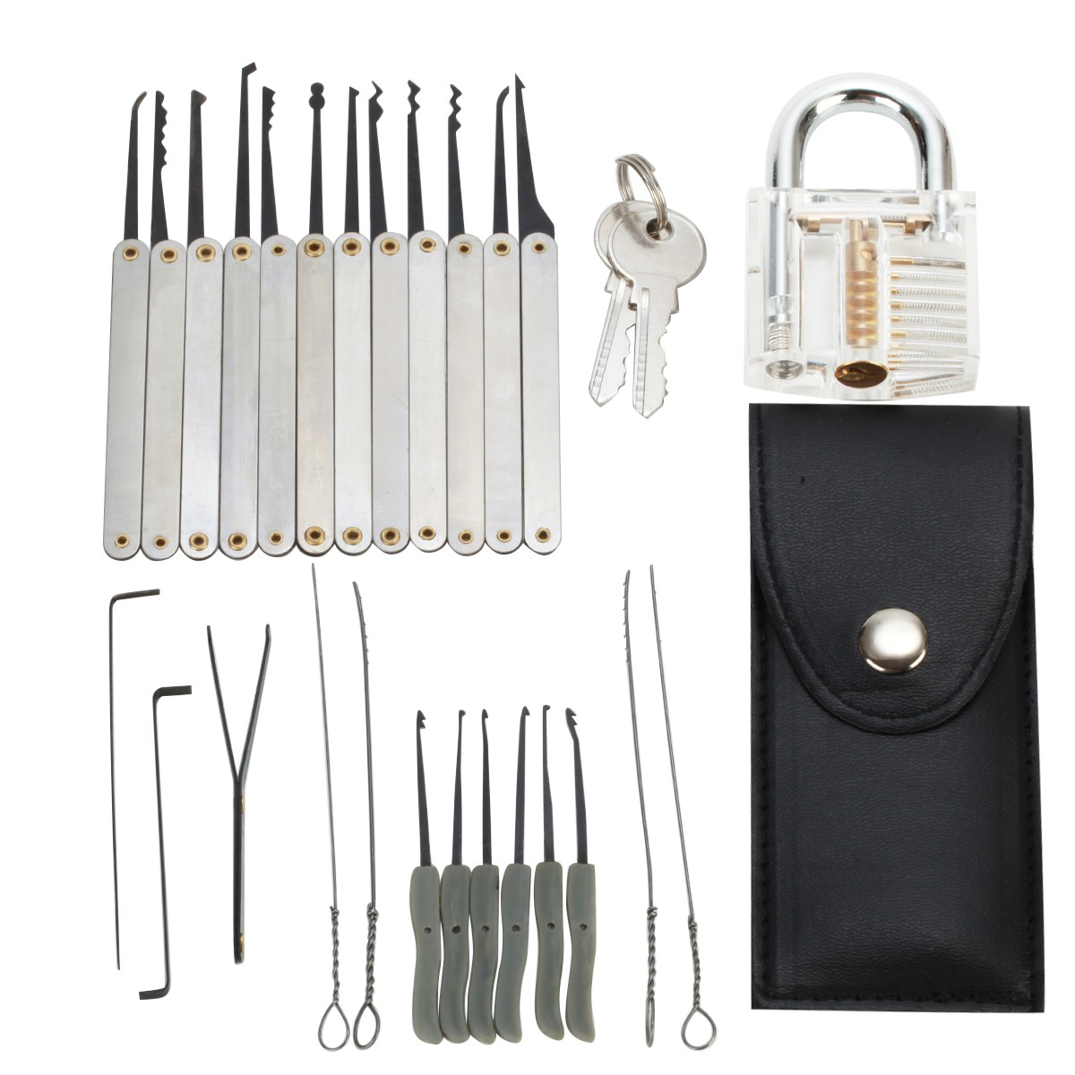 15pcs lockpicking set mit 2 schl ssel schlie zylinder vorh ngeschloss kaufen. Black Bedroom Furniture Sets. Home Design Ideas