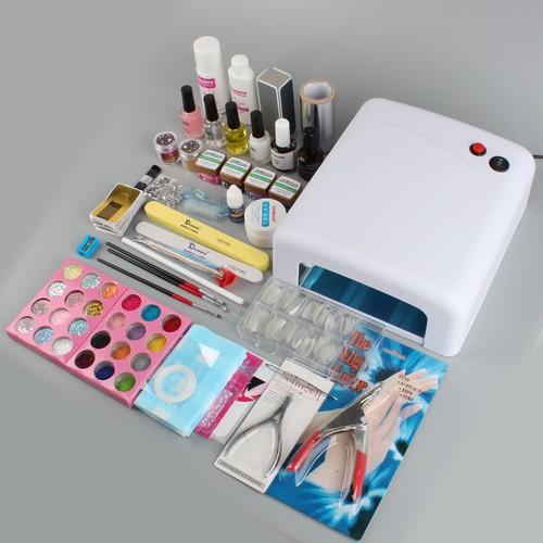 uv gel nagelstudio starter set 111st ck nail art set. Black Bedroom Furniture Sets. Home Design Ideas