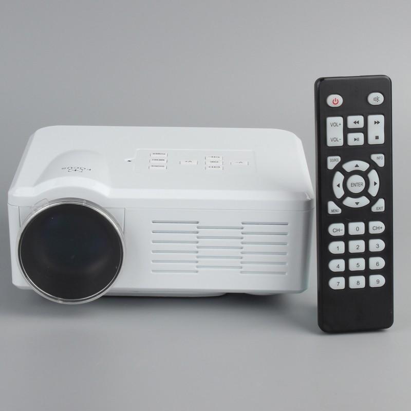 mini led beamer projektor hdmi lcd player f r heimkino weiss. Black Bedroom Furniture Sets. Home Design Ideas