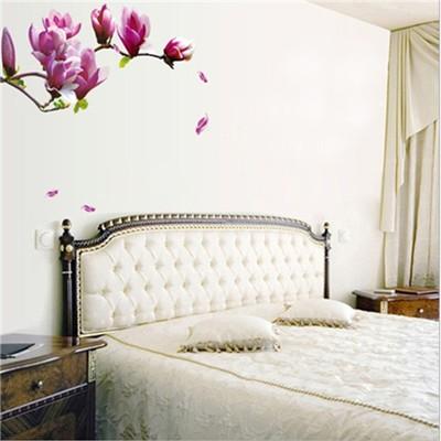 wandtattoo kinderzimmer wandaufkleber blumen magnolia 55x150cm g nstig kaufen. Black Bedroom Furniture Sets. Home Design Ideas