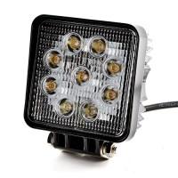 27W LED Arbeitsscheinwerfer Wasserdicht weicheres Licht, schwarz