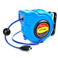 Schlauchtrommel Druckluft Hose Reel automatik Aufroller blau 15m