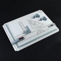 Zeichenplatte A3 mit Sichtfenster Magnetklemmschiene