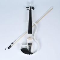 E-Violine Elektrische Violine 4/4 weiss für Musik Liebhaber Anfänger
