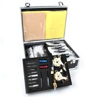 Profi Komplett Tattoomaschine Set  Doppelkopf Tattoo Kits