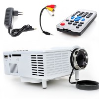 Beamer, Full HD 1080P LED+LCD Mini Beamer Tragbare Projektor
