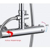 Duschthermostat Brausebatterie Brauseamatur Doppelventil bis 38°C