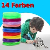 3D Print Filament PLA 14 Farben Stift Pen Set f. 3D Drucker 1.75 MM