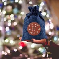 24pcs Geschenkboxen Sackleinen Geschenkverpackung Geschenksäckchen