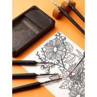 10 Stück Fein Pinsel Miniatur Malpinsel Künstlerpinsel für Handarbeiten