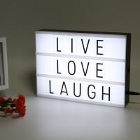Leuchtkasten LED Lightbox 22 x 30cm 85 Buchstaben A4 lovely