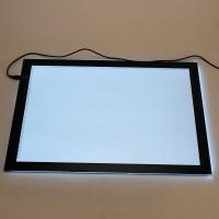 LED A3 Leuchtkästen Leuchtplatte dimmbare Helligkeit Leuchttablett Leuchtisch Zeichenpad Zeichentisch schwarz 43x31cm