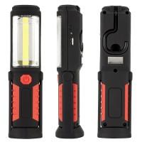 Arbeitsleuchte Handlampe Magnet Taschenlampe Akku LED Lampe 3W Rot