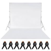 Hintergrundsystem Hintergrundstoff eine Musselin für Fotostudio 2 x 3m