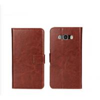 Schutz Hülle Wallet für Samsung J5 2016 Vintage Tasche Braun