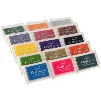 Stempelkissen,15 Farben Stempelkissen Set Wasserbasis mit Stempelfarbe