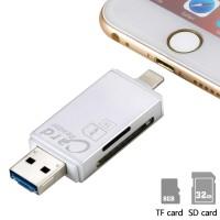 Kartenleser Speicherkartenleser Card Reader 3in1 Lightning micro USB