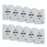 10x RFID Blocking NFC Schutzhüllen für Kreditkarte, Personalausweis