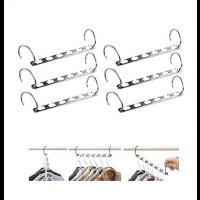 6 Stück platzsparende Raumsparbügel Metall Kleiderbügelhalter
